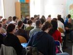 ueberfuellter Seminarraum an der Universitaet Greifswald