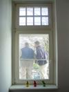Bauarbeiter vor meinem Zimmerfenster