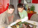 Mein Lieblingsbruder und Olav beim Monopoly