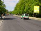Tiergarten Berlin abgesperrte Straße für Läufer