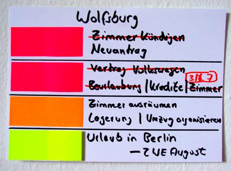 Organisation des Wintersemester 2008/2009 von Goettingen nach Wolfsburg zu Volkswagen