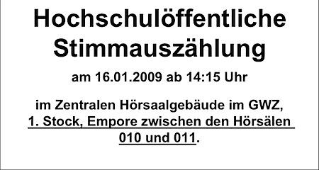 Oeffentliche Stimmenauszaehlung der Goettinger Universitaetswahlen 2009