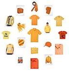 Ansicht der orangefarbenen stylight MEN Seite