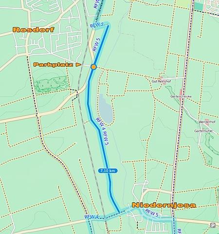 Inline-Skaten Strecke zum Lernen in Goettingen Rosdorf