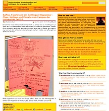 altes oranges Blogdesign