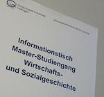 Info-tisch Wirtschafts- und Sozialgeschichte