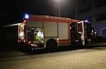 Feuerwehr vor dem Idunazentrum in Goettingen um Mitternacht