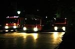 Drei Einsatzwagen eines Goettinger Loeschzuges der Feuerwehr