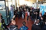 Kurze Ansprache vor versammelter Studentenschaft im Goettinger ZHG