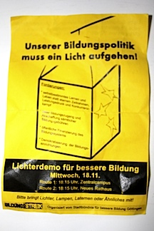 Fyler Bildungsstreik Goettingen