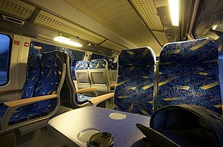 im ersten Metronom von Göttingen nach Hamburg am Samstagmorgen