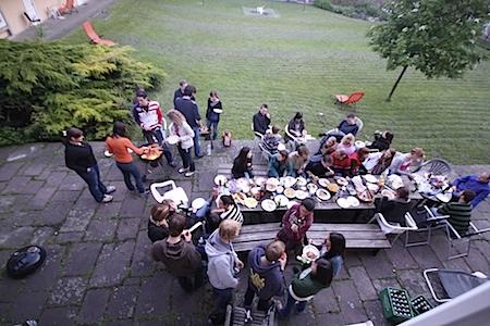 Grillfest in der Akademischen Burse