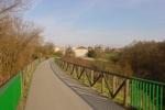 Inline-Skaten in Oviedo Spanien: breiter Asphlatweg ideal zum Speedskaten