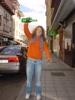 Arriondas Asturien: Eingießen von Sidra will geübt sein, Julia