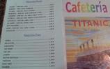 Titanic Oviedo: die Speisekarte
