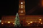 Berlin Rotes Rathaus und Weihnachtsbaum