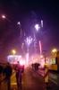 Silvester in Berlin: Feuerwerk auf der Warschauer Brücke